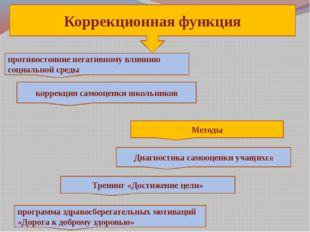 , Коррекционная функция противостояние негативному влиянию социальной среды