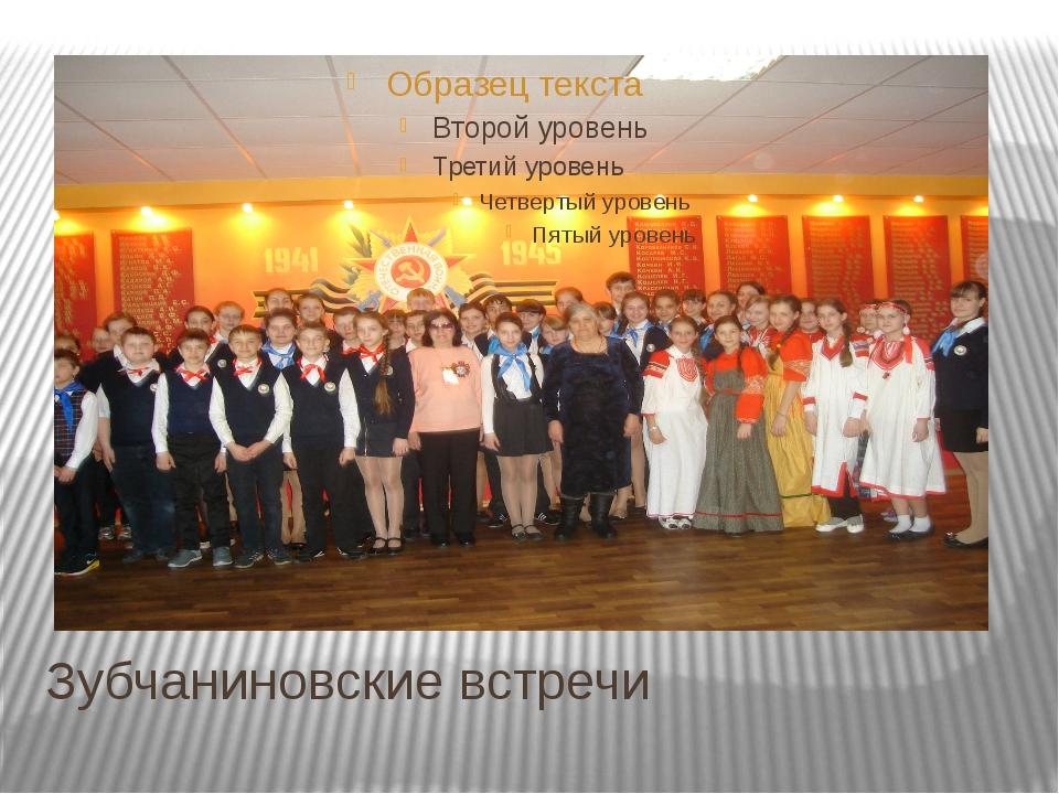 Зубчаниновские встречи