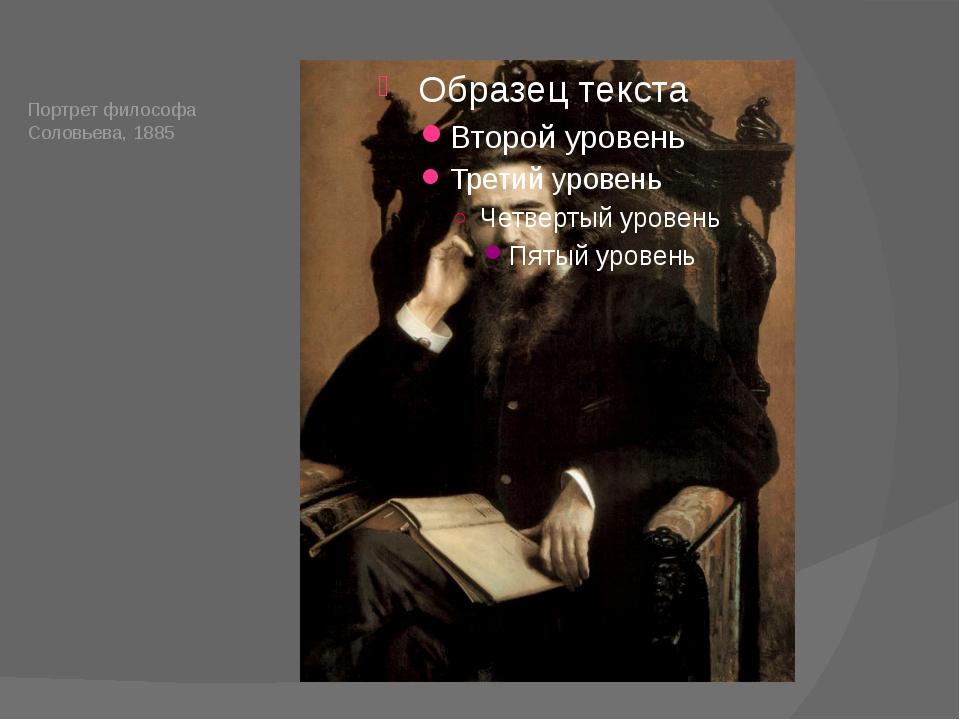 Портрет философа Соловьева, 1885