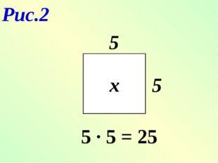 Рис.2 х 5 5 5 ∙ 5 = 25