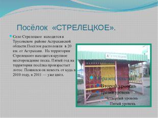 Посёлок «СТРЕЛЕЦКОЕ». Село Стрелецкое находится в Трусовском районе Астрахан