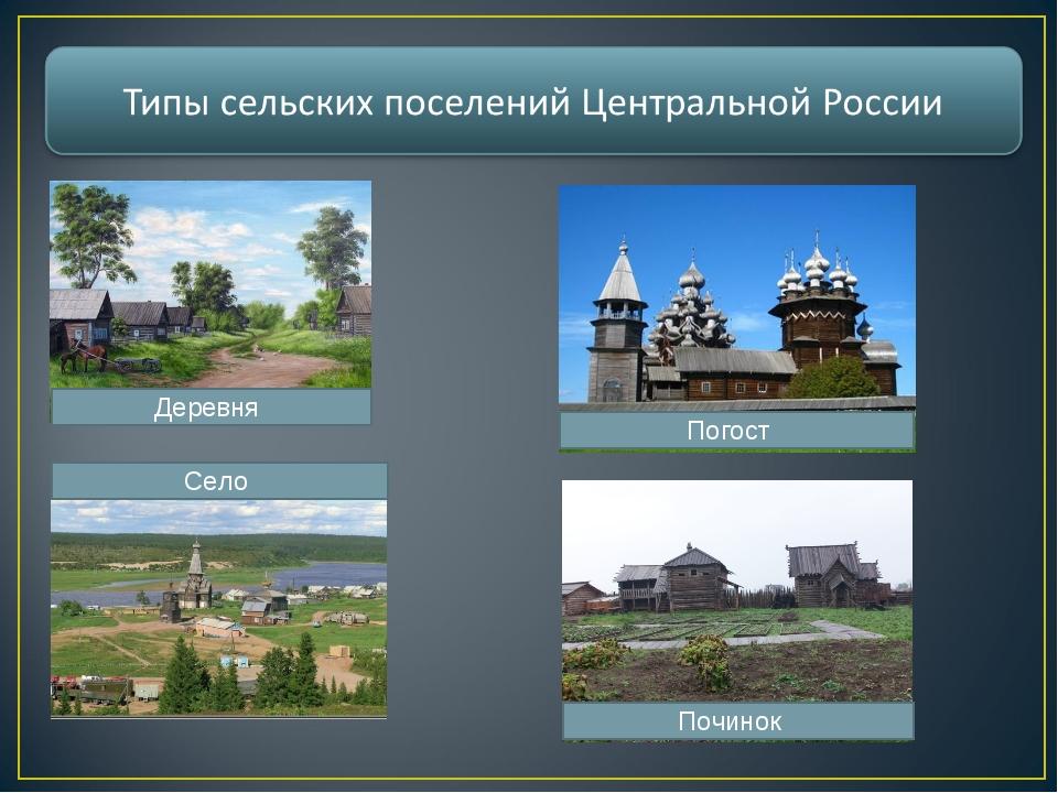 Деревня Село Погост Починок