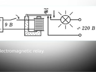 Electromagnetic relay.