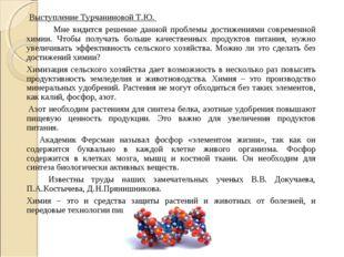 Выступление Турчаниновой Т.Ю. Мне видится решение данной проблемы достижени