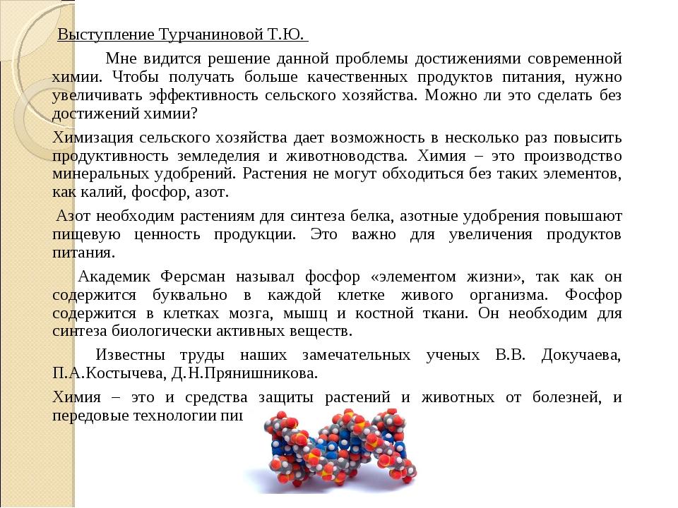 Выступление Турчаниновой Т.Ю. Мне видится решение данной проблемы достижени...