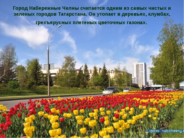 Город Набережные Челны считается одним из самых чистых и зеленых городов Тата...