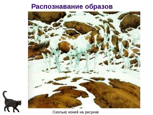 Распознавание образов Сколько коней на рисунке