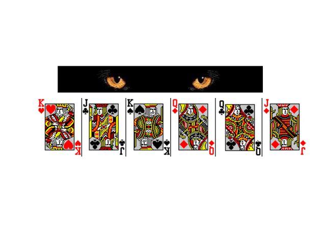Вы видите 6 карт. Выберите одну из них, Смотрите на неё и думайте о ней, ДУМА...