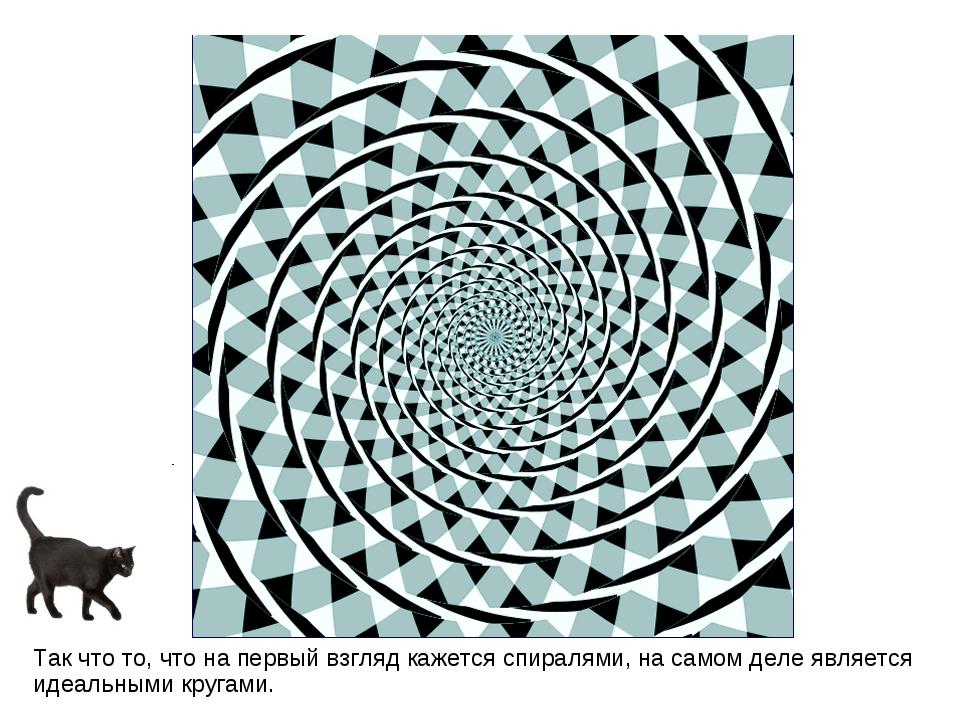 Так что то, что на первый взгляд кажется спиралями, на самом деле является ид...