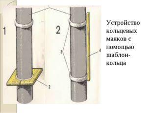 Устройство кольцевых маяков с помощью шаблон-кольца