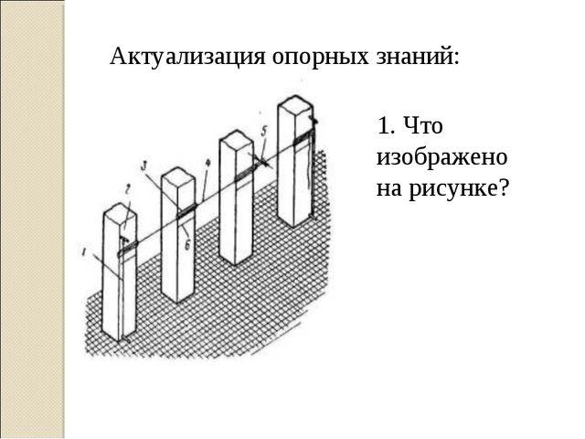 1. Что изображено на рисунке? Актуализация опорных знаний:
