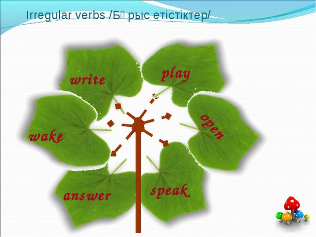Irregular verbs /Бұрыс етістіктер/