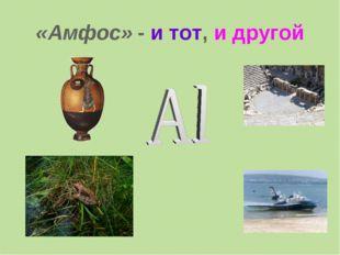 «Амфос» - и тот, и другой