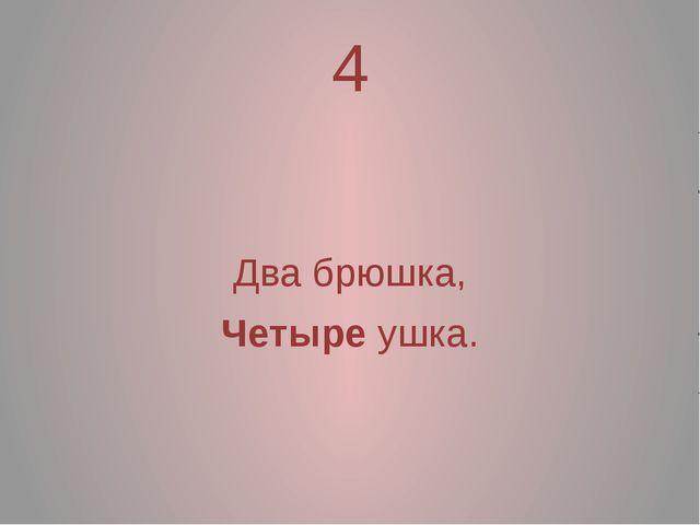 4 Два брюшка, Четыре ушка.