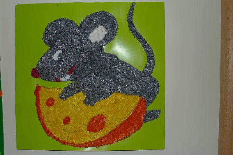 поделки из манки.детские поделки,как красить манку,картины из цветной манки,картины из крупы