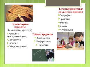 Гуманитарные предметы (о человеке, культуре) Русский и иностранный язык Литер