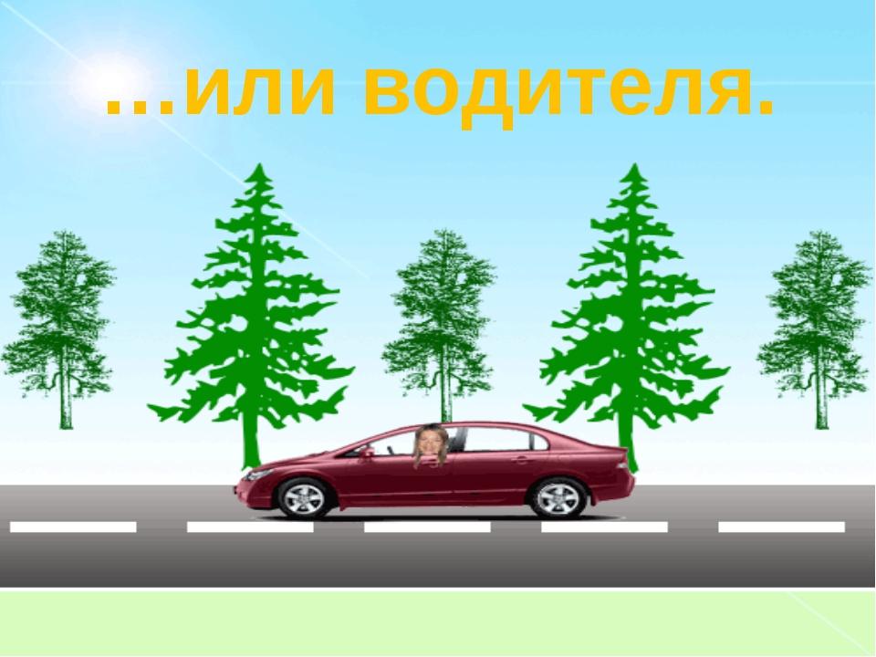 …или водителя.