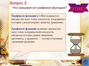 ОТВЕТ Назовите основные правила преобразования графиков функций 4. у = f(x –