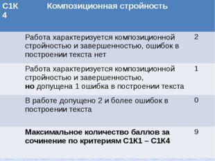 С1К4 Композиционная стройность Работа характеризуется композиционной стройнос