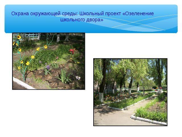 Охрана окружающей среды: Школьный проект «Озеленение школьного двора»