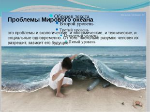 Проблемы мирового океана Проблемы Мирового океана это проблемы и экологически