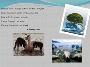 Птицы, рыбы и звери в души людям смотрят. Вы их жалейте, люди, не убивайте зр