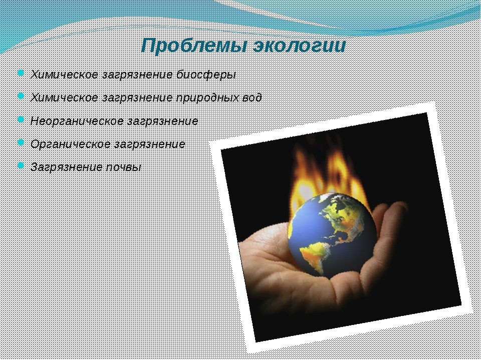 Проблемы экологии Химическое загрязнение биосферы Химическое загрязнение при...