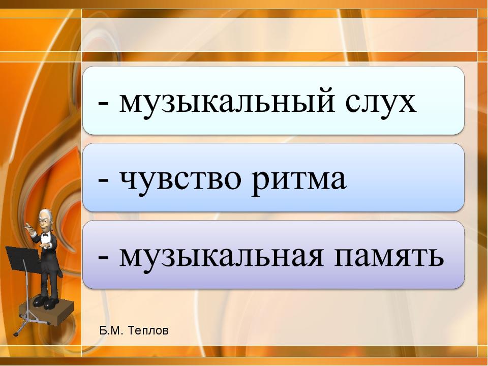 Б.М. Теплов