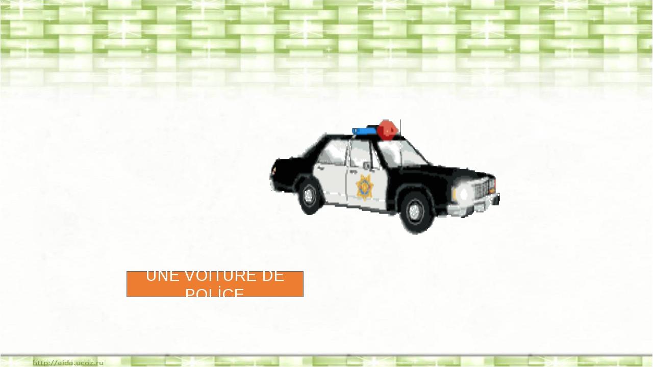 UNE VOİTURE DE POLİCE