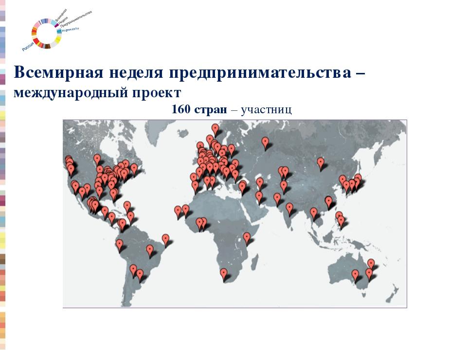 Всемирная неделя предпринимательства – международный проект 160 стран – участ...