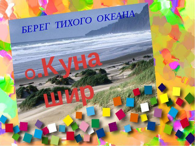 БЕРЕГ ТИХОГО ОКЕАНА О.Кунашир