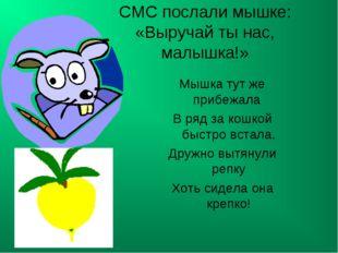 СМС послали мышке: «Выручай ты нас, малышка!» Мышка тут же прибежала В ряд з
