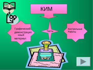КИМ Графический, демонстрационный материал Контрольные Работы Тесты