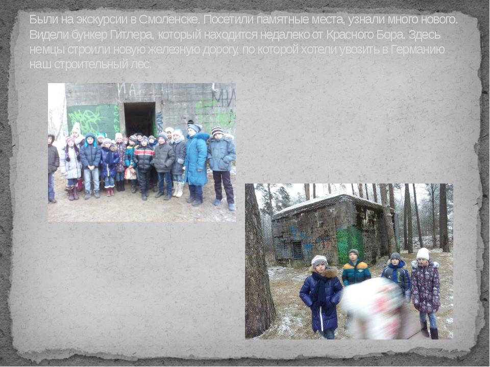 Были на экскурсии в Смоленске. Посетили памятные места, узнали много нового....