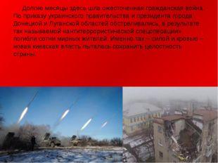 Долгие месяцы здесь шла ожесточенная гражданская война. По приказу украинско