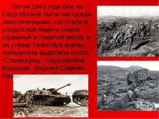 Летом 1943 года бои на Саур-Могиле были настолько ожесточенными, что стали в