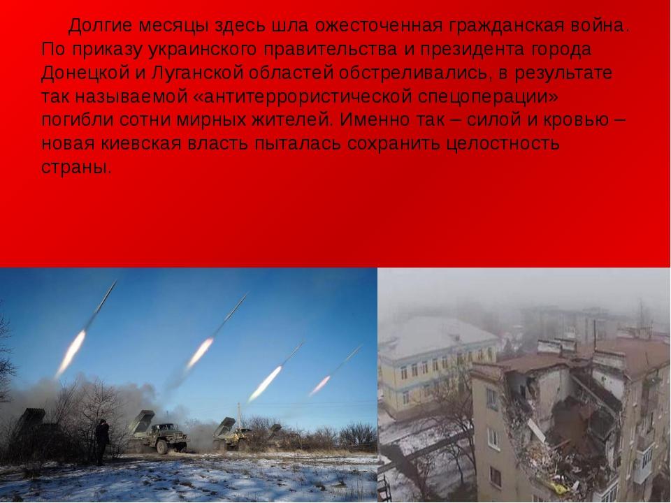 Долгие месяцы здесь шла ожесточенная гражданская война. По приказу украинско...