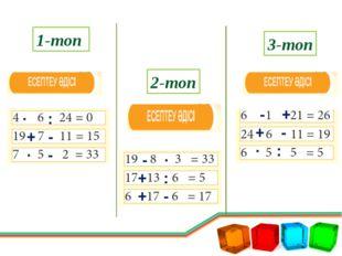 V тур. «Математикалық мысал» 3-топ 1-топ 2-топ 430:10=43 1000:5=200 500*2=100