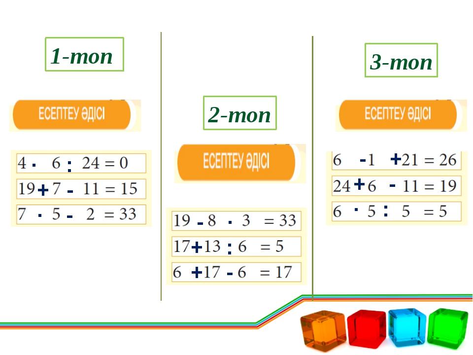 V тур. «Математикалық мысал» 3-топ 1-топ 2-топ 430:10=43 1000:5=200 500*2=100...