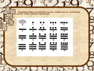 Индейцы майя ухитрялись писать любое число, используя только точку, линию и