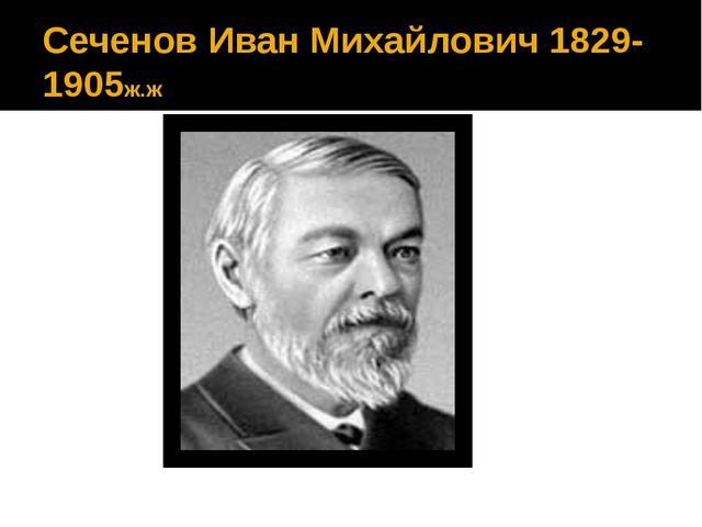 Сеченов Иван Михайлович1829-1905ж.ж