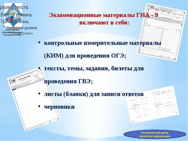 Министерство образования и науки Республики Алтай Экзаменационные материалы Г...