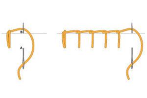 Как делать петельный шов Схема