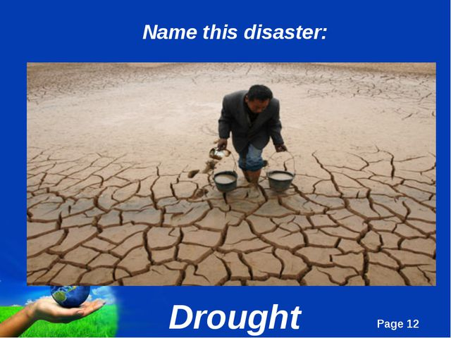 Drought Name this disaster: Page