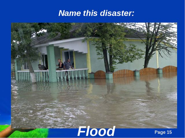 Flood Name this disaster: Page