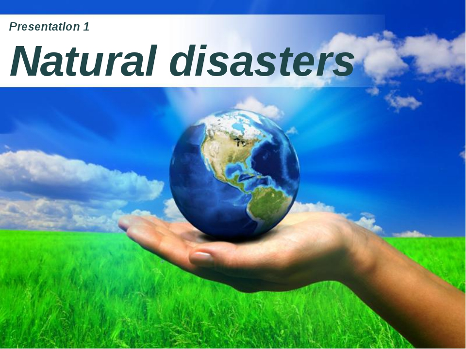 Presentation 1 Natural disasters Page