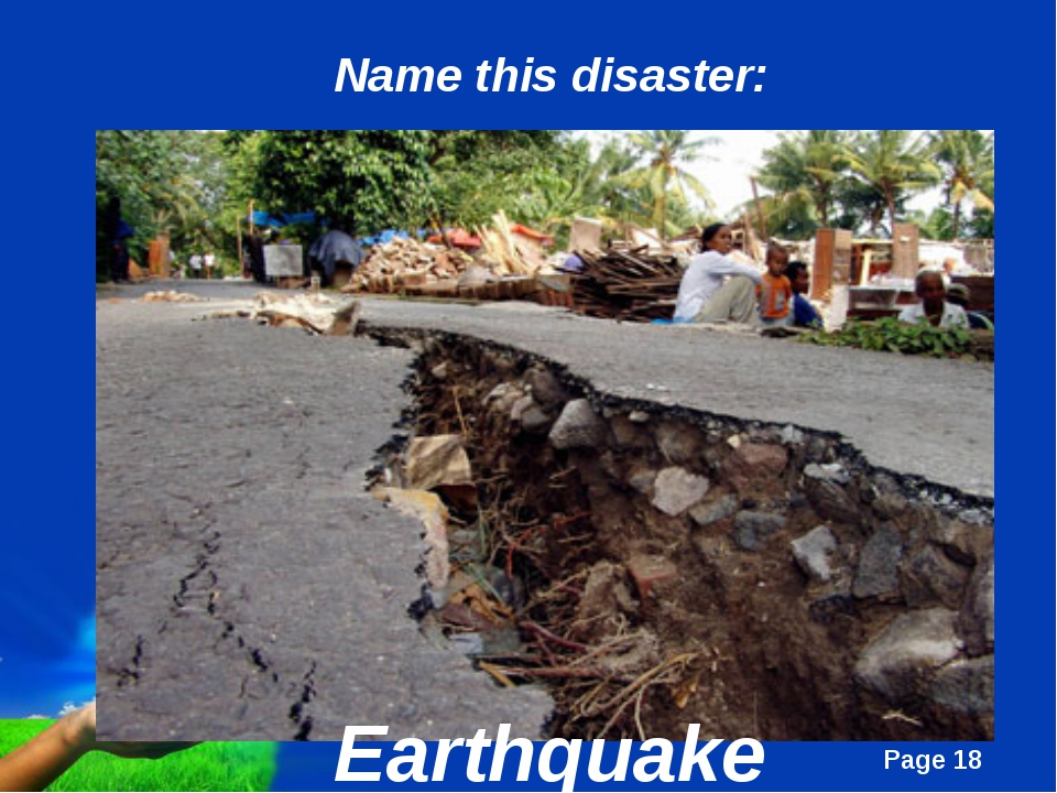 Earthquake Name this disaster: Page