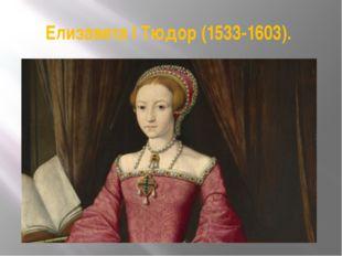 Елизавета I Тюдор (1533-1603).