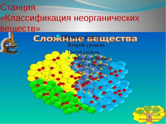 Станция «Классификация неорганических веществ»