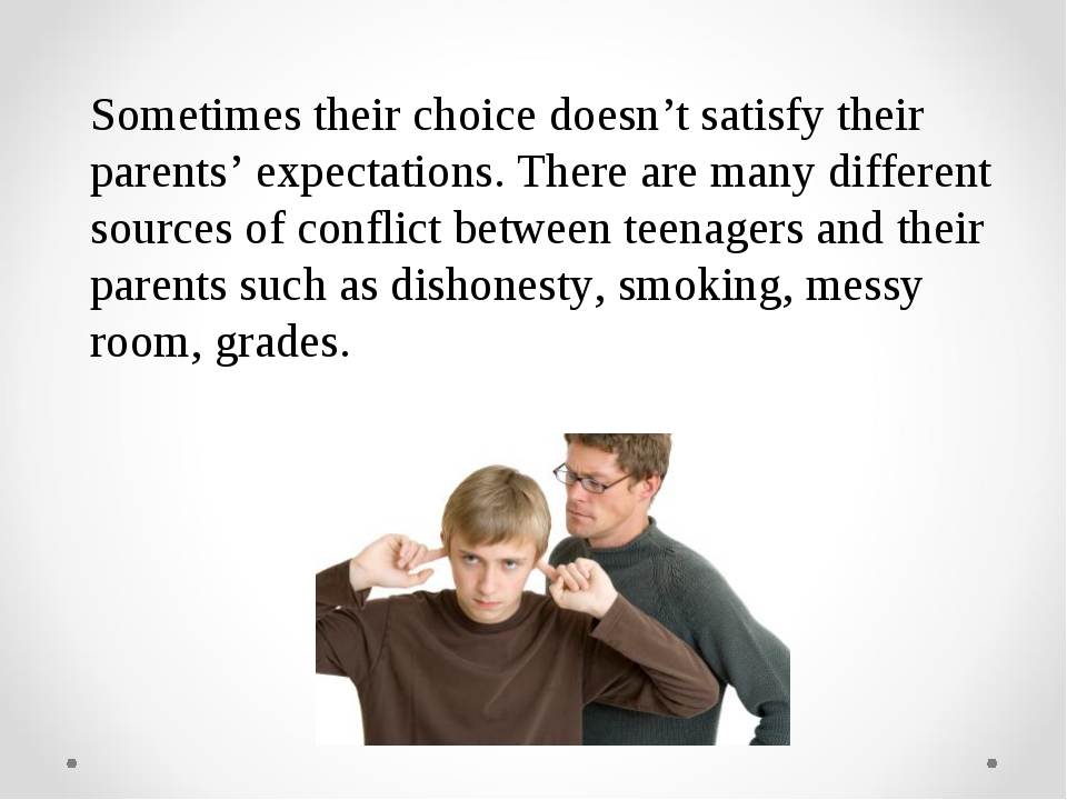 Sometimes their choice doesn't satisfy their parents' expectations. There are...